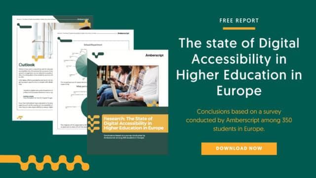 Umfragebericht: Stand der digitalen Barrierefreiheit in der Hochschulbildung in Deutschland