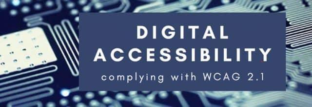 Digital tillgänglighet och WCAG 2.1 standarden