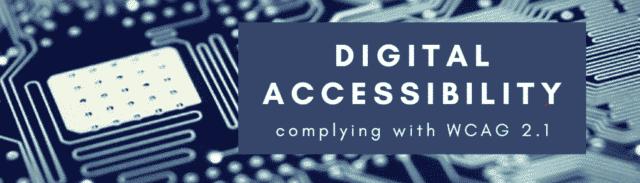 Digitale Barrierefreiheit und WCAG 2.1 Richtlinien