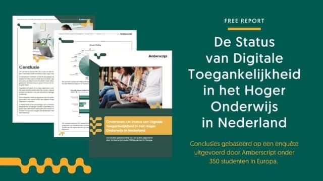 Onderzoek: De Status van Digitale Toegankelijkheid in het Hoger Onderwijs in Nederland