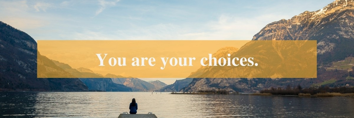 Times New Roman font type example with quote You are your choices.