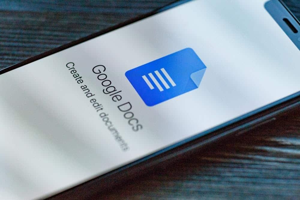 Google Docs mobile app launching screen view