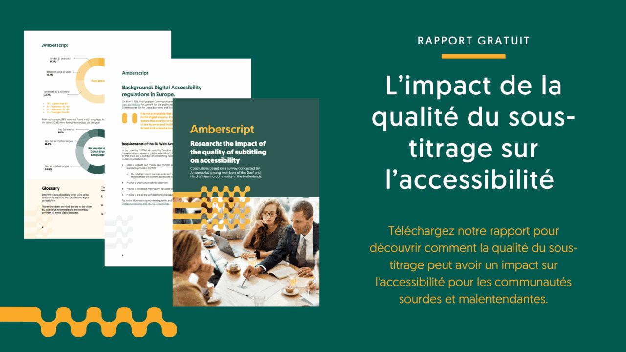 Recherche : L'impact de la qualité du sous-titrage sur l'accessibilité