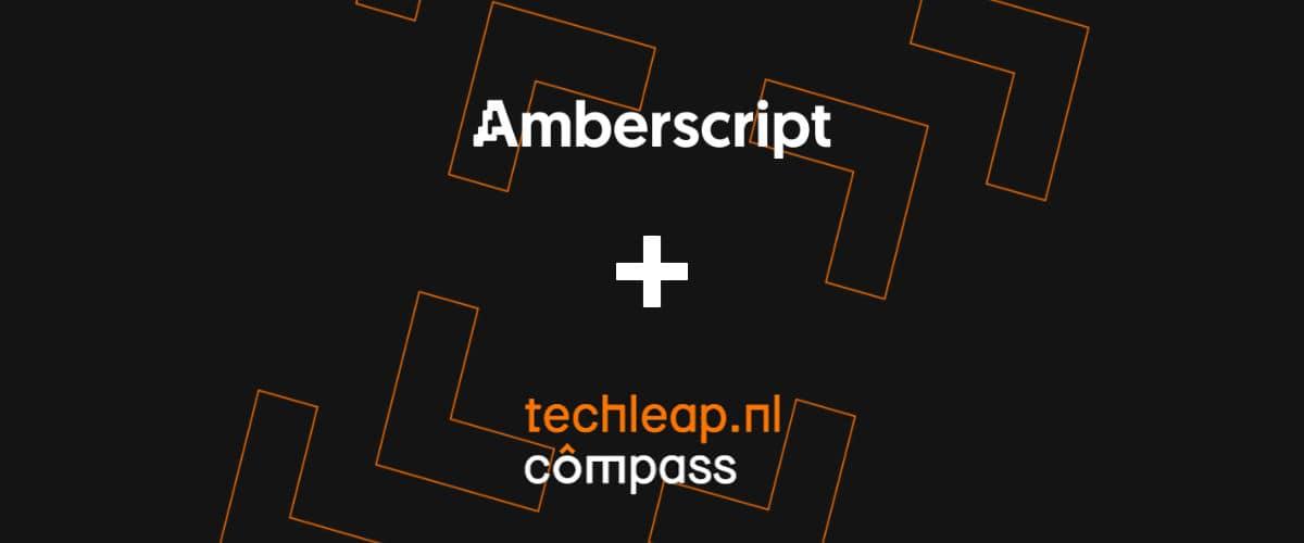 Amberscript and Techleap.nl Compass program logo