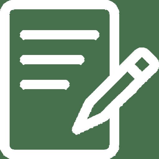 Transcribing audio to text manually icon
