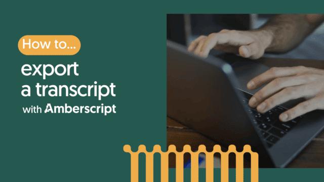 How to export a transcript?